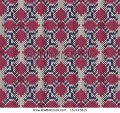 Knitted seamless  background with flower pattern
