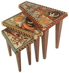 nesting tables-love the painted design!