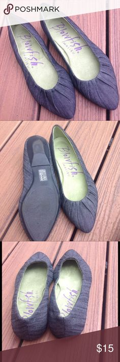 Denim Ballet Flats A classic pair of ballet flats that look great with anything! Blowfish Shoes Flats & Loafers