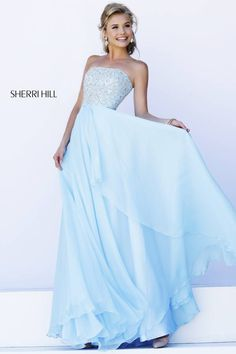 Sherri HIll #8554 I love this Cinderella blue Sherri Hill Dress!!