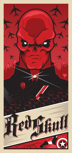 The Red Skull poster  by *MikeMahle