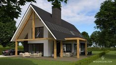 schuurwoning houten balken risaliet Style At Home, Home Building Design, Building A House, 30x40 House Plans, Oregon House, Build Your Own House, Cottage Plan, Shed Homes, Home Plans