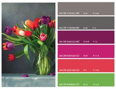 bright floral color scheme, bright floral color inspirations,  floral mood board