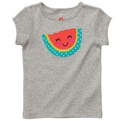Cap-Sleeve Graphic Tee | Baby Girl New Arrivals