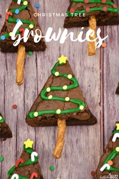 Make your holidays extra festive with these rich, chewy, fudgy Christmas Tree Brownies. These holiday brownies are sure to put a smile on everyone's face! Christmas Treats To Make, Christmas Tree Brownies, How To Make Christmas Tree, Christmas Cupcakes, Simple Christmas, Holiday Treats, Holiday Fun, Festive, Christmas Ideas