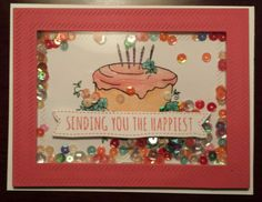 My very first shaker card #simonsaysstamp #stampingbella