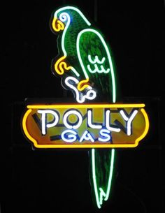 Polly Gas Neon Sign - Oil and gas Other Products neon signs business open signs bar beer lights neon clocks budweiser neon signs custom signs.
