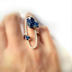 Cleopatra Cosulet octobre 2015 · ring- Silver - Azurite