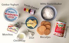 Eef Kookt Zo - Aardbeien cheesecake in een glaasje | Eef Kookt Zo Desserts In A Glass, High Tea, Oatmeal, Bbq, Breakfast, Menu, Food, Vanilla, Tea