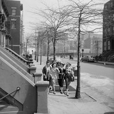 size: Photographic Print: Teenage Girls Walking Down Sidewalk in Brooklyn, NY, 1949 by Ralph Morse : Brooklyn Image, Human Zoo, Nyc Pics, Frame My Photo, Concrete Jungle, Historical Photos, Old Pictures, Great Photos, Find Art