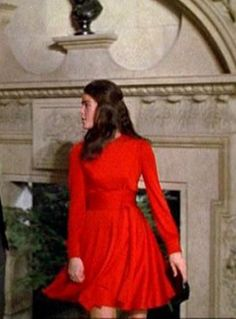 """Ali MacGraw in """"Love Story"""" wearing the perfect red dress..."""