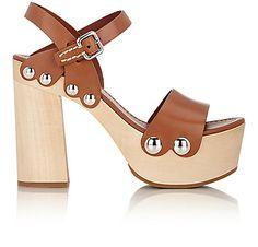 Prada Ankle-Strap Clog Sandals - Heels - 504232921
