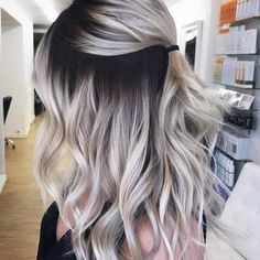 blonde hair with dark roots \ blonde hair . blonde hair with lowlights . blonde hair with dark roots . blonde hair with highlights Dark Blonde Balayage, Balayage Straight, Blonde Lowlights, Blonde Wig, Ombre Hair Color For Brunettes, Brunette Color, Blonde With Dark Roots, Bleach Blonde Hair With Roots, Dark Roots Blonde Hair Short