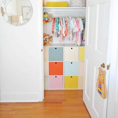 DIY Colorful Cube Storage for modern and gorgeous closet organization