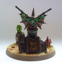 A Goblin Doom Diver conversion from an Empire Mortar