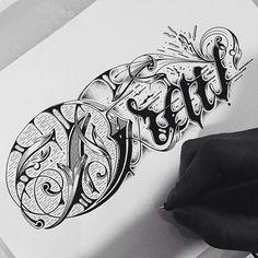 30 illustrations typographiques faites à la main par Raul Alejandro