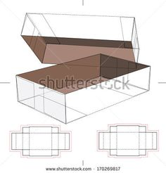 Box with Blueprint Layout