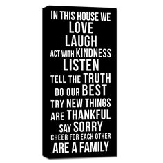 IN THIS HOUSE WE: Customize your OWN Family Rules Sign
