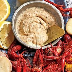MAKE THIS WHEN LEE MAKES HIS CRAWFISH BOIL - This tangy dip is a great make accompaniment to the veggies in the crawfish boil.