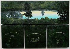 Catherine Nash, Before Dawn  Encaustic on wood. 16.5 X 24 in.