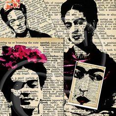 Nove immagini ATC Frida Kahlo... A4 digitale Scarica foglio