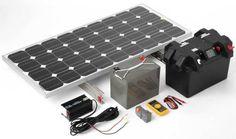 Komplette 220v Solaranlage TÜv 2x 100ah Akkus 200w Solarmodul 1000w Steckdose Spare No Cost At Any Cost Sonstige