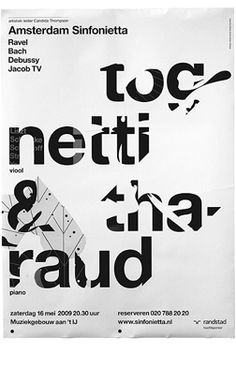 Typographic poster design by Studio Dunbar Typo Poster, Typographic Poster, Layout Design, Print Design, Web Design, Type Design, Urban Design, Graphic Design Posters, Graphic Design Typography