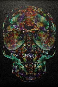 ☆ Psychedelic Color Skull.。Art By :→: RUSS ☆