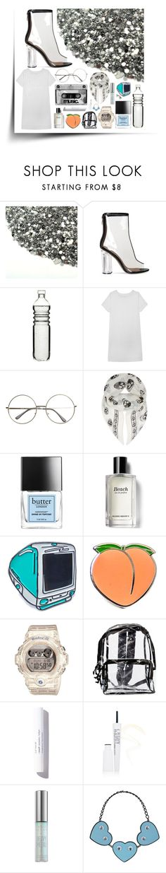 """CLEARLY"" by anna-pensky ❤ liked on Polyvore featuring Dot & Bo, Olive + Oak, Alexander McQueen, Butter London, Bobbi Brown Cosmetics, Laser Kitten, PINTRILL, Baby-G, myface cosmetics and Urban Decay"