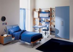 Cool Modern Bedroom Ideas for Boys Room: Appealing Bedroom Ideas For Boys With Blue Scheme Decorating ~ workdon.com Bedroom Design Inspiration