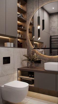 Bathroom Design Luxury, Modern Bathroom Design, Modern Toilet Design, Small Apartment Interior, Apartment Design, Home Room Design, Home Interior Design, Wc Design, Washbasin Design