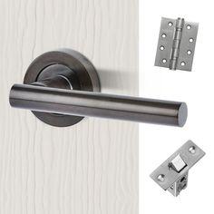 Polished Stainless Steel External Timber Door Set Mitred Door Handle Pack