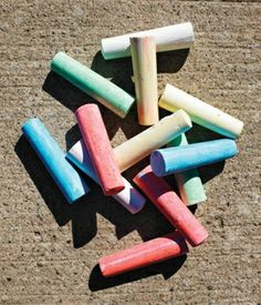 Let the children use their imagination with chalk - its cheap, easy and can be washed off with water. Magic!