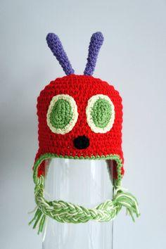 Very Hungry Caterpillar Hat Crochet Baby Hat by stylishbabyhats