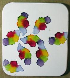 Splitcoaststampers Tutoriales: Alcohol de tinta de Cindy Lyles: Técnicas de Fabricación de la Tarjeta