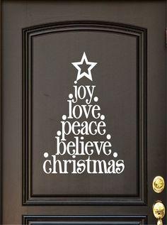 Christmas Decal  Door Decal  Door Vinyl  Wall by DavisVinylDesigns, $14.00