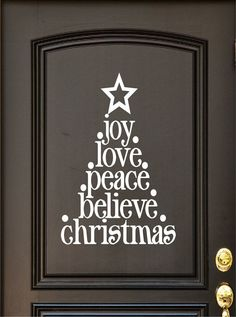 Christmas Decal  Door Decal  Door Vinyl  Wall by DavisVinylDesigns, $14.00