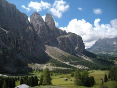 Looking out from the Passo Gardena