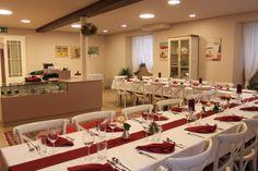 Alles ist vorbereitet für die Sponsion hier. In der Küche steigen schon die Gerüche auf und wir freuen uns auf die Gäste.