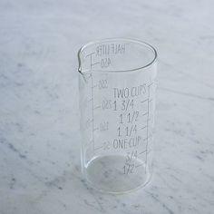 Labeled Kitchen Glass Beaker #WestElm