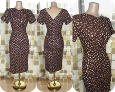 Vintage 50s Cocoa Brown Fully Embroidered Linen by IntrigueU4Ever