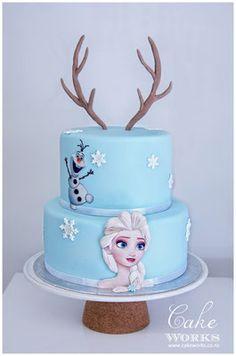 Frozen Elsa Olaf Cake