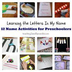 preschool name activities