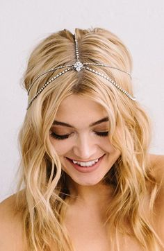 Sara Gabriel 'Lindsay' Embellished Hair Chain available at #Nordstrom
