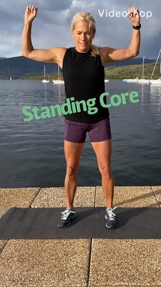 Fitness Workouts, Fitness Workout For Women, Toning Workouts, Body Fitness, Fitness Tips, Fitness Motivation, Standing Ab Exercises, Core Exercises, Standing Abs Workout