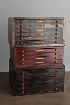 One-Of-A-Kind Vintage Watchmaker Cabinet - Check Urban Outfitters for fun-odd finds every now and then.