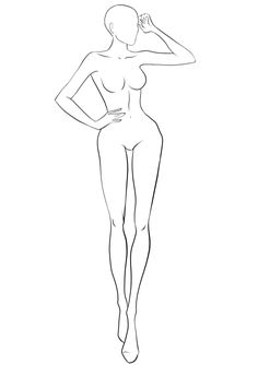 Free figure Bases for fashion design sketches. Large collection of body templates in variety of poses. Pick the best croquis to draw your design on! Fashion Design Portfolio, Fashion Design Sketchbook, Fashion Design Drawings, Fashion Sketches, Fashion Drawing Tutorial, Fashion Figure Drawing, Fashion Model Drawing, Fashion Illustration Poses, Fashion Illustration Template