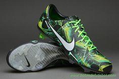 chuteiras barata Masculino Preto/Branco/Flash Verde Nike Mercurial Vapor IX FG Tropical Pack