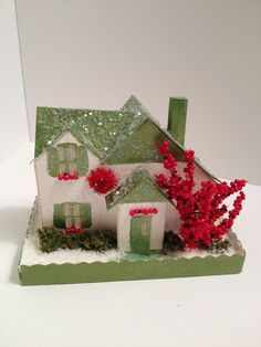 Putz style Christmas house