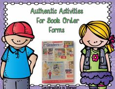 Math & Literacy activities to do with book order forms as a teaching tool.